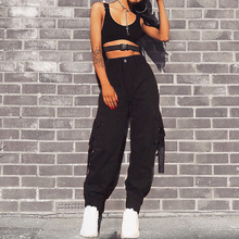 Women pant 2019 fashion new autumn net red womens Europe and the United States streamers casual pants women harem overall
