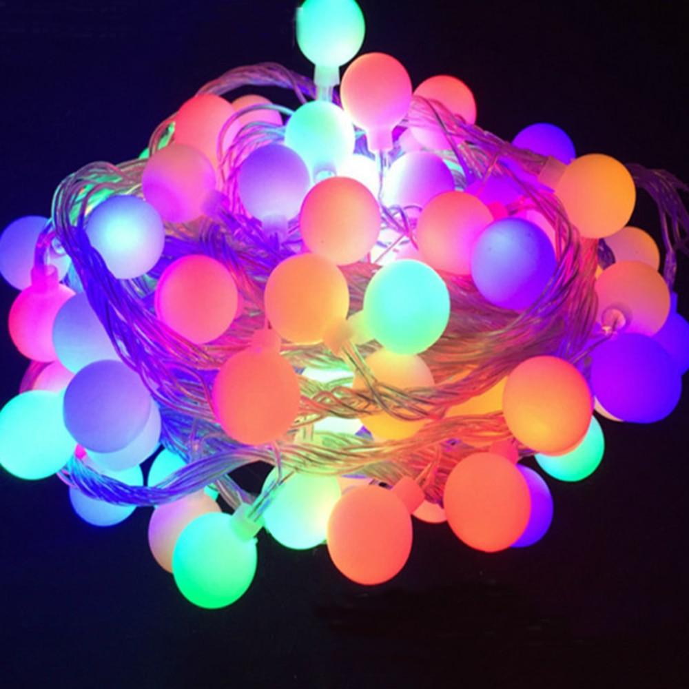 10m /5m Holiday Wedding Christmas LED bulb warm White RGB LED ball string light led light waterproof 220V EU plug /AA Battery