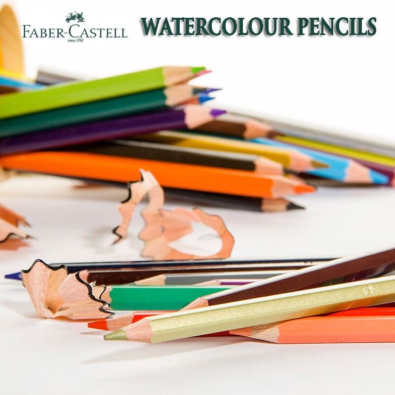 Faber Castell Watercolor Pencils 12 24 48 60 72 Set Aquarelle Priscolor Pastille Pencil Professional Water Soluble Crayon