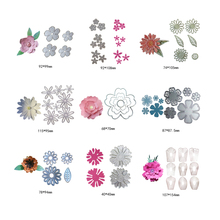 Metal Cutting Dies For Scrapbooking Die Rose Flower Leaves Cut DIY Paper Cards Craft Diy Flowers Tree