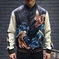 High Quality 2016 Fashion brand streetwear handmade embroidery bomber jacket men Varsity Jacket coat women baseball jacket