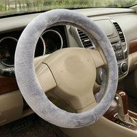 New Good Quality DIY Car Soft Wool Short Plush Winter Car Warm Steering Wheel Universal Auto