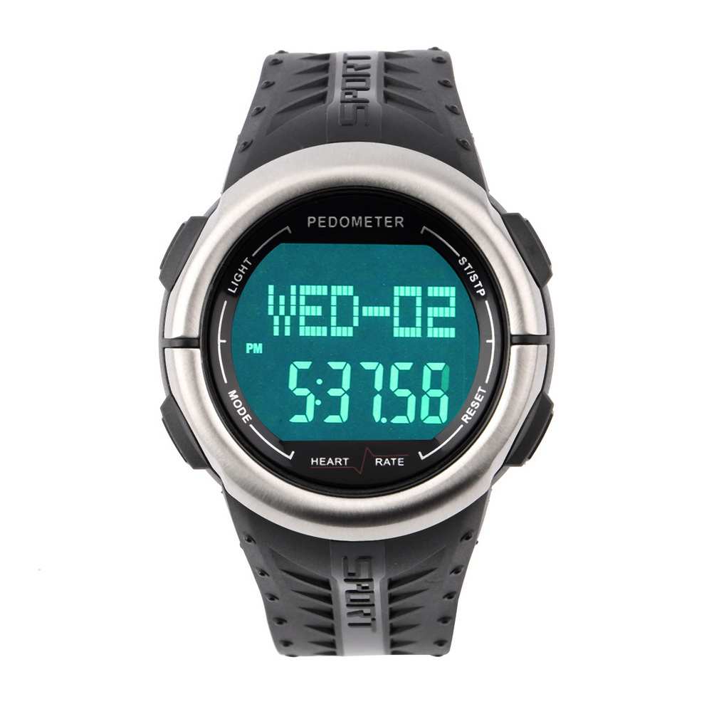New Digital 3D Pedometer Calories Counter Pulsometer Heart Rate Monitor LED Sport Watch  pedometer heart rate monitor calories counter led digital sports watch skmei fitness for men women outdoor military wristwatches