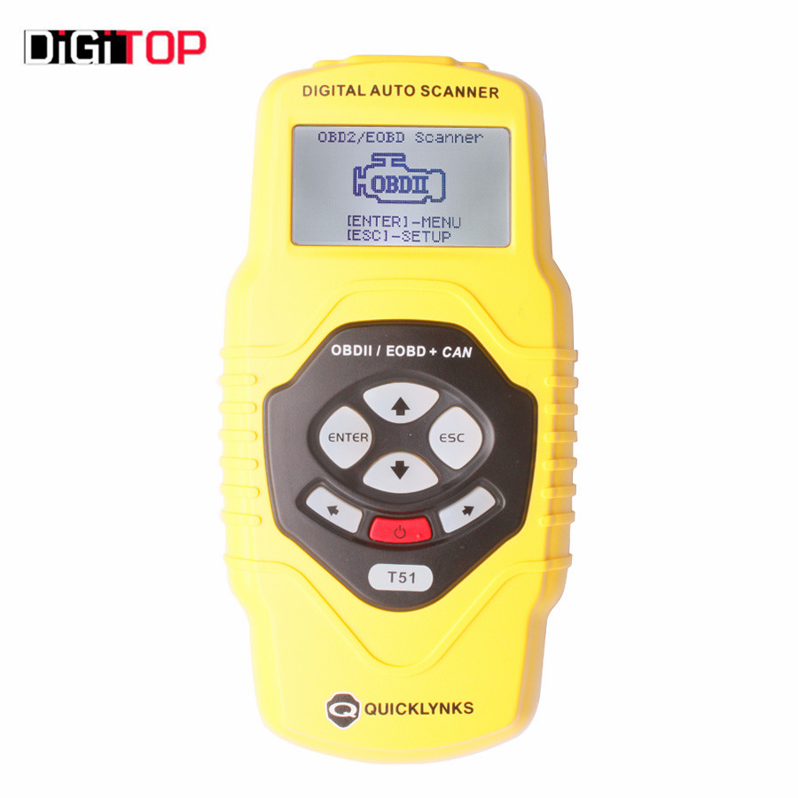 ФОТО T51 Auto Scanner OBDII EOBD JOBD Can Car Scanner T51 Online Update Support Multi-languages
