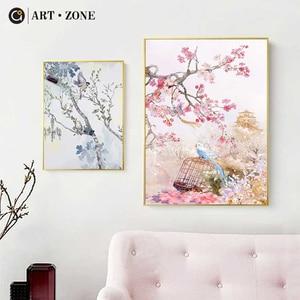 ART ZONE Modern Flower And Bir
