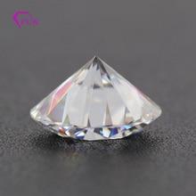 GH color 9mm 3ct brilliant cut VVS diamond certificate moissanite for ring earring bracelet