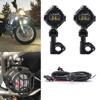 2PCS Moto Motorcycle 40W Universal LED Auxiliary Fog Lamp Lights Assembly for BMW R1200GS F800GS Versys KTM Driving Headlight