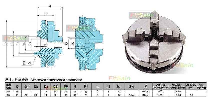 FitSain-négy állkapocs-tokmány D = 50mm CNC mini ÖNKÖZÖTT - Szerszámgépek és tartozékok - Fénykép 6