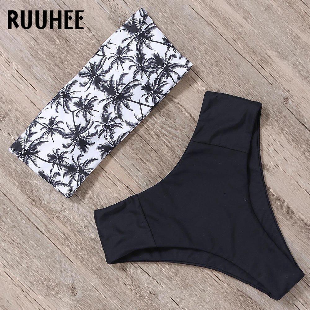 RUUHEE Bandage Bikini Swimwear Women Swimsuit High Waist Bikini Set 2019 Bathing Suit Push Up Maillot De Bain Femme Beachwear 3