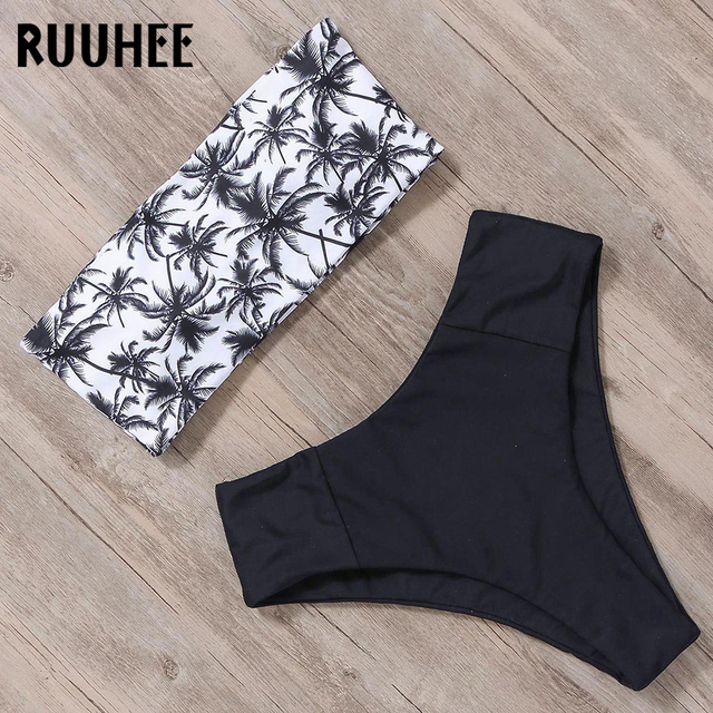 RUUHEE Bandage Bikini Swimwear Women Swimsuit High Waist Bikini Set 2019 Bathing Suit Push Up Maillot De Bain Femme Beachwear 3