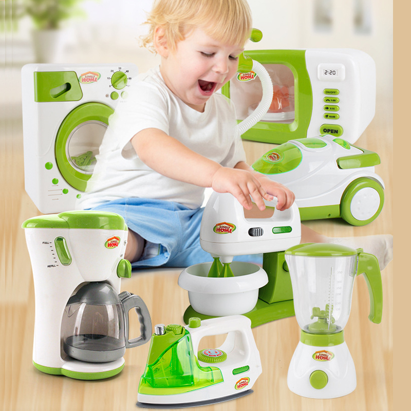 Mini Refrigerator Microwave Rice cooker Kitchen Toys Pretend Play Educational Cute Household Appliances for Children Toys