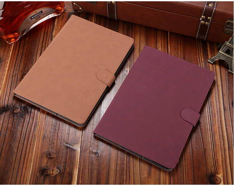 Classic retro parchment Faux Leather apple case Auto Sleep for air1 2 ipad5 ipad6 cover full protection Cover Shell Cases