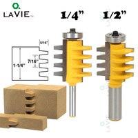 LA VIE 1 2 1 4 Shank Finger Joint Glue Router Bit Milling Cutter Mortaise Tenon