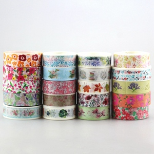 Image 1 - DHL free shipping Cute Kawaii 100pcs / Lot Tape Flowers Scrapbooking DIY Decorative Adhesive Japanese Washi Paper Tape For Gift