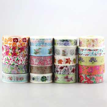 DHL free shipping Cute Kawaii 100pcs / Lot Tape Flowers Scrapbooking DIY Decorative Adhesive Japanese Washi Paper Tape For Gift - DISCOUNT ITEM  20% OFF All Category