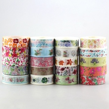 Dhl 送料無料かわいいかわいい 100 ピース/ロットテープ花スクラップブッキング diy 装飾粘着和紙和紙紙ギフト