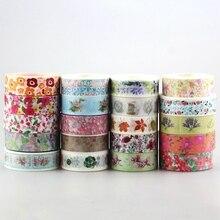 Dhl Gratis Verzending Leuke Kawaii 100 Stks/partij Tape Bloemen Scrapbooking Diy Decoratieve Adhesive Japanse Washi Papier Tape Voor Gift