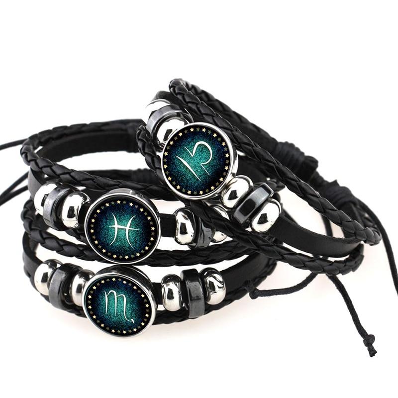 LNRRABC Fashion 12 Constellations Bracelets For Men Boys Jewelry Bangle Travel Accessories Gifts Bracelets & Bangles Pulseras