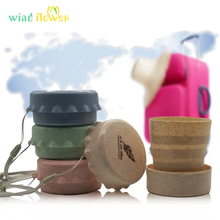 Wind flower Wheat Straw Creative Plastic Portable Telescopic Outdoor Travel Foldable Water Bottle