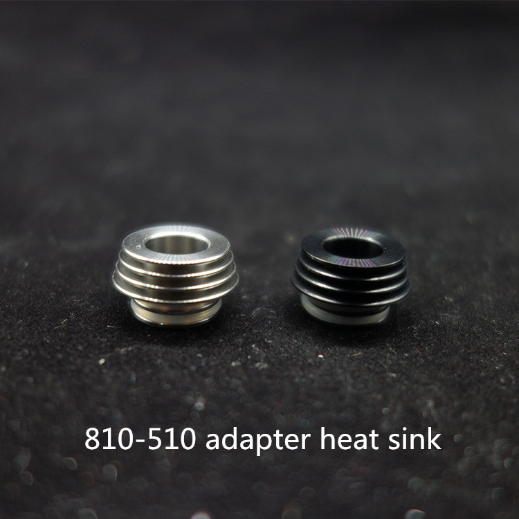 1pc 2pc 810 to 510 heat sink adapter metal drip tip convertor for tfv8 tfv12 atomizer