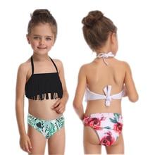 2019 New Lovely Child Tassel Bikini Swimwear Girl Bathing Suits Swimsuit Fashion Children Baby Clothes Kid Beach