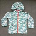 Primavera e outono crianças Outerwear desportivo crianças roupas Double deck à prova d ' água à prova de vento meninas casacos para 2 - 8 2 cores