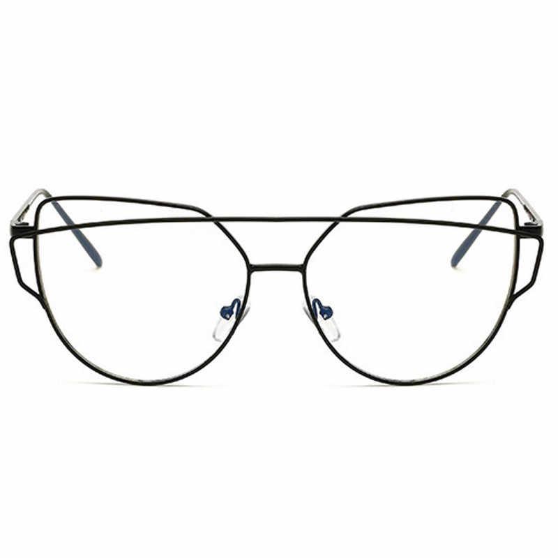 fb3575d17b ... Oversized Cat Eye Clear Lens Glasses Hexagon Eyeglasses Frame For Men  Women Transparent Spectacles Eyewear Optical