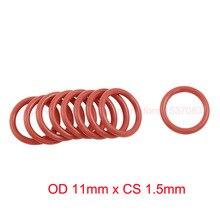 OD 11mm x CS 1.5mm VMQ PVMQ SILICONE O ring O-ring Oring Sealing Round Gasket