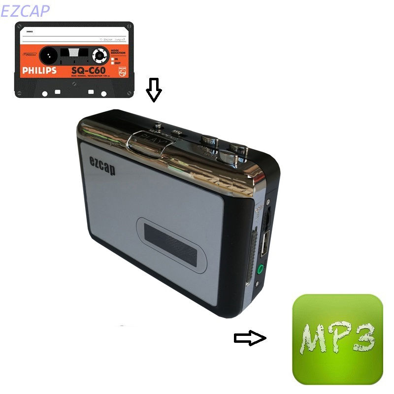 2017 New cassette converter mp3, convert tape cassette tapes to mp3 in U driver directly, no pc required. Free shipping