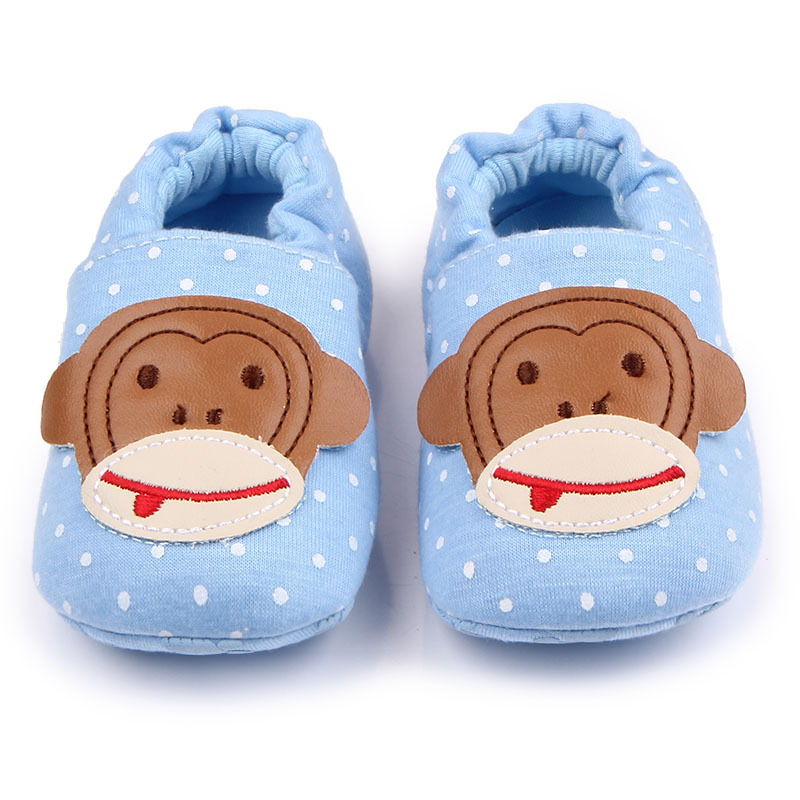 Baby Crib Sko Unisex Child Cartoon Animal Loafers Soft Sole Slip-on Newborn Boy Tøfler Spædbørn Piger Fodtøj Småbørn til Kid