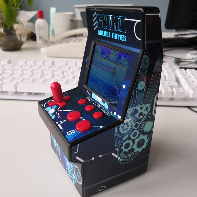 "220 in 1 Mini Arcade Game Console Retro Arcade Handheld Game Player with 220 16 bit Games 2.8"" Colorful Display Gift for Kid  4"
