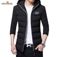 UNIVOS KUNI 2017 Autumn Winter The Latest Style Men S Cotton Coat Leisure Hooded Long Sleeve