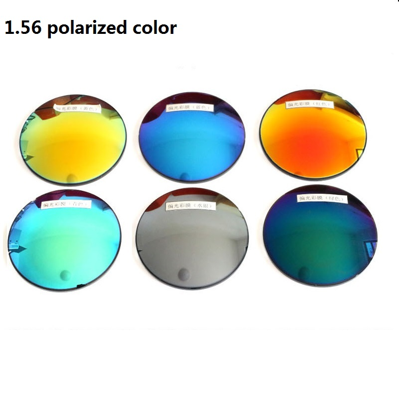 c4e576839a 1.56 Polarized colorful spherical brand myopia sunglasses prescription  lenses UV400 goggles optical glass lenses for sunglasses-in Accessories  from Apparel ...