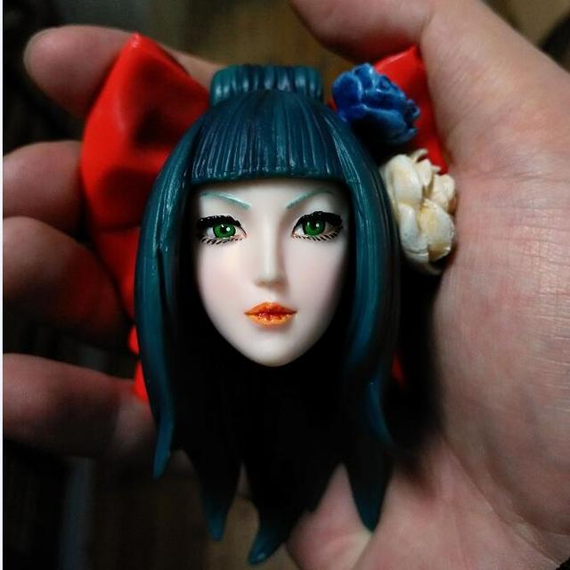 OE 1 6 Japanese Geisha Beauty and Obedience Hasuike Sunayuki Head Sculpt  for Phicen Jodoll Kumik Verycool Acton Figure DIY 2459e56f358c