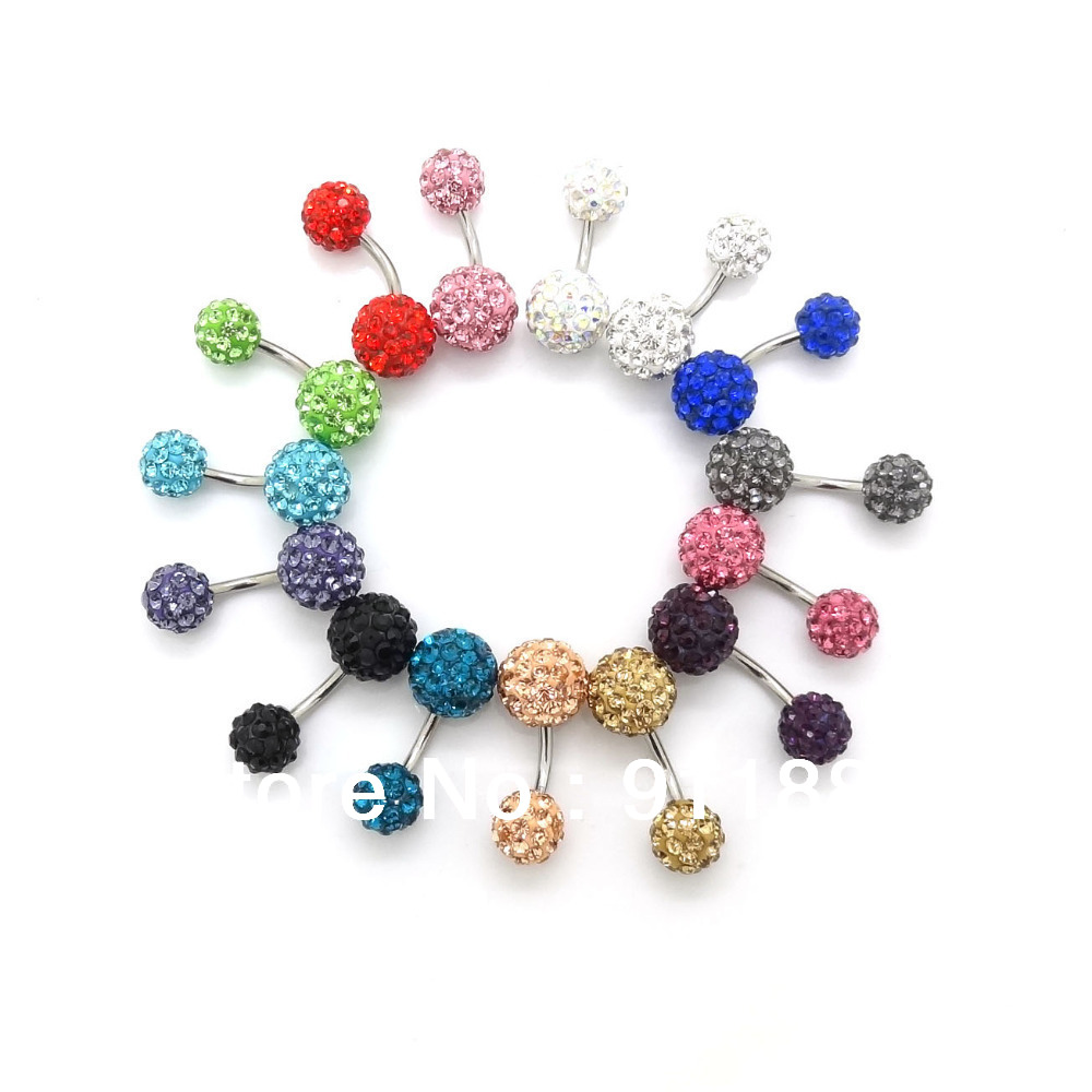 Buy wholesale new surgical navel 10mm 8mm for Belly button jewelry store