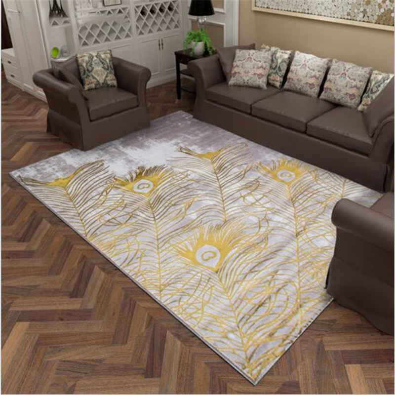 Polypropylene And Cotton Light Hair European Style Large Carpets For Living Room Bedroom Rugs Soft Thicker Carpet Home Rug Mat