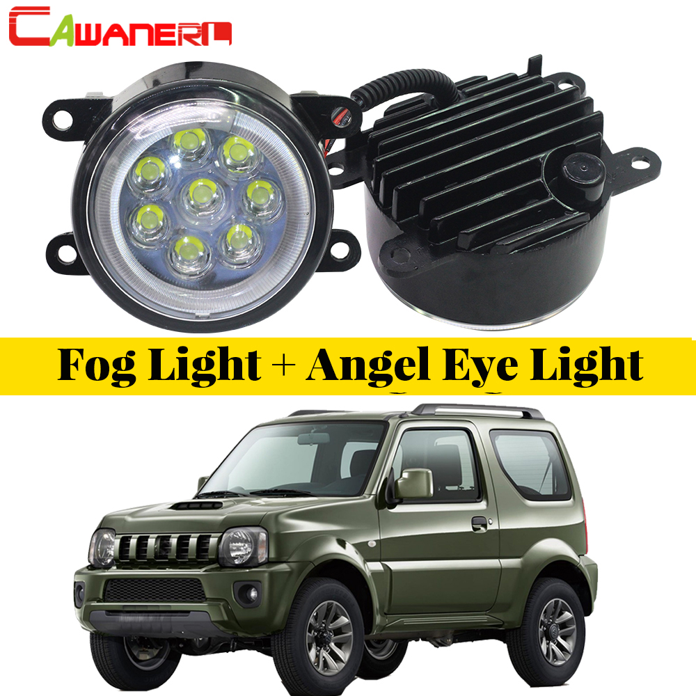 Cawanerl For 1998-2014 Suzuki Jimny FJ Closed Off-Road Vehicle Car Accessories LED Fog Light Angel Eye DRL Daytime Running Light барьер road angel 19cm