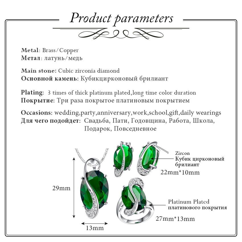 Almei 50% popusta Modni privjesak Naušnice Prsten Kristalno Srebrna - Modni nakit - Foto 3