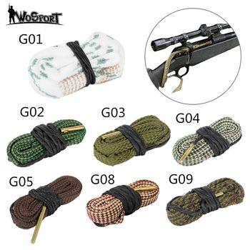 Hunting gun bore cleaner ular.22 cal.223 cal.38 cal and 5.56mm, 7.62mm, 12GA rifle cleaning kit tool rifle barrel cleaning snake tali