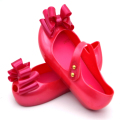 MEMON Mini Big bowknor  Children's Shoes jelly shoes children's soft Bottom Princess girl fish head Sandals KIDS shoes 3 color