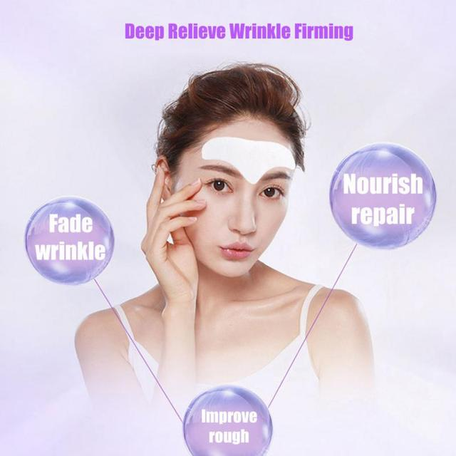 10 PCS Forehead Line Frown Lines Removal Anti-wrinkle Stickers Patch Moisturizing Repairing Anti-aging Forehead Lifting Mask 2