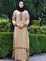 Nueva turco daewoo nexia encuadre de cuerpo entero vestido de ropa de mujer de moda, encogimiento manga mujeres musulmanas vestido jilbabs y abayas LD107