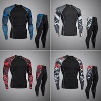 Qualidade superior nova undewear homens undewear térmica conjuntos de compressão velo térmico de secagem rápida do suor roupa interior dos homens de roupas|Ceroulas| |  -