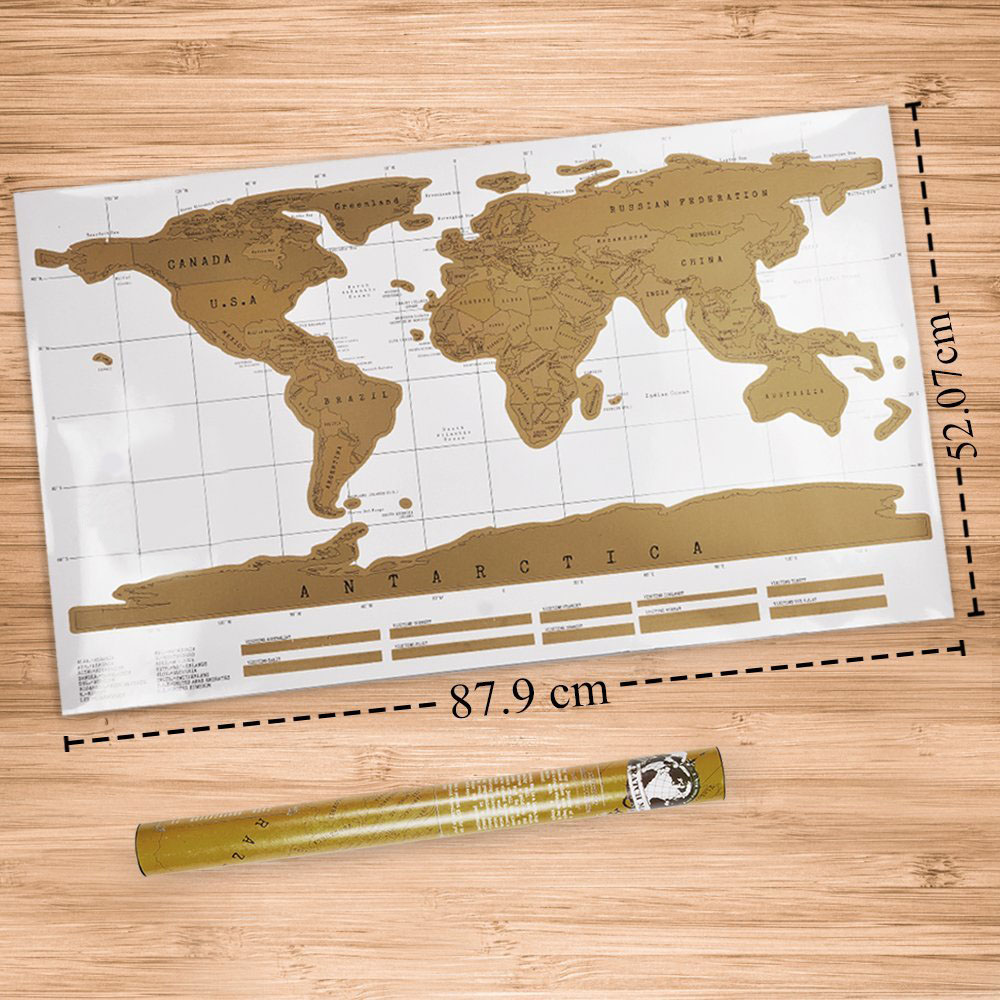 Free Shipping Piece Black Deluxe Travel Map Travel Tracker Poster - Us travel map poster