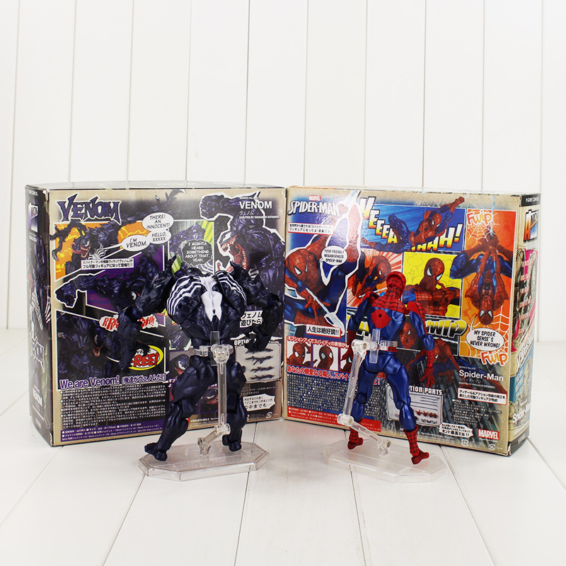 Boxed Revoltech Venom No.003 Spider Man No.002 Spiderman Toy Action