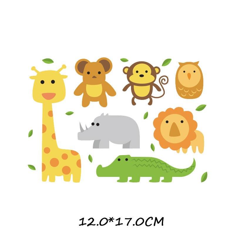 Набор патчей с изображением животных из мультфильмов, милые патчи с изображением единорога, кошки, совы, собаки, цветов для детей, одежда для девочек, футболка, сделай сам, термопресс - Цвет: 872