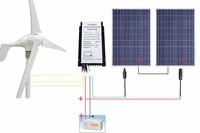 UK Stock 24V 600W/H Hybrid System Kit 400W Wind Turbine Generator 200W 12V PV Solar Panel