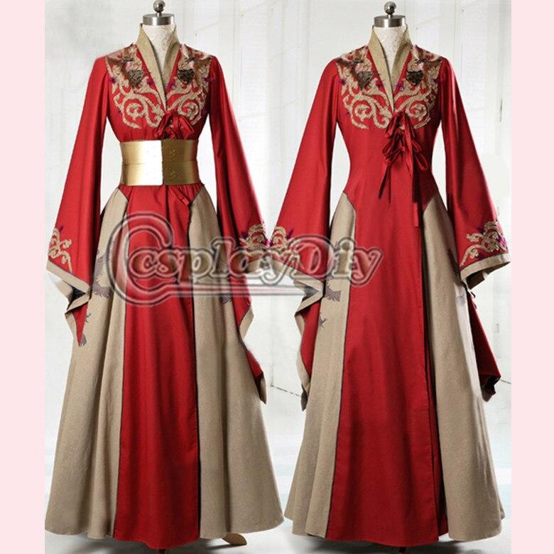 Маскарадный костюм «сделай сам», «Игра престолов», «Королева Серсея Ланнистер», красное Эксклюзивное платье, для взрослых женщин, для танцевальной вечеринки, карнавальный костюм на заказ