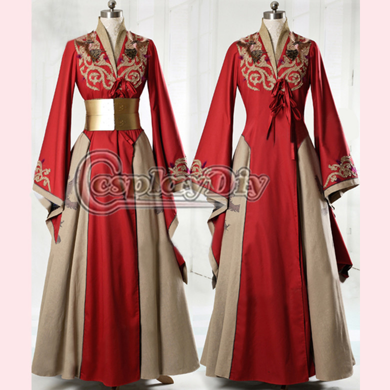 Cosplaydiy Game of Thrones Queen Cersei Lannister Red Exclusive Dress Adult Women Dance Party Cosplay Costume Custom Made