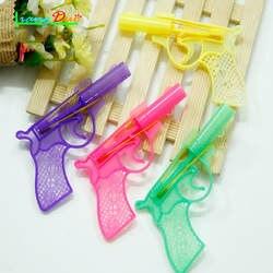 3 шт./лот творческие подарки Детские развивающие игрушки пистолет с резиновой лентой пластик пистолет мини модель для мальчиков и девочек